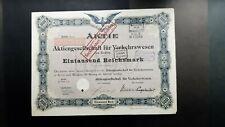 Aktie AG für Verkehrswesen 1000 RM 1922 Berlin