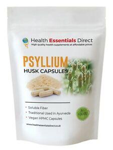 Psyllium Husk Capsules 800mg (Soluble Fibre, Colon, Prebiotic)