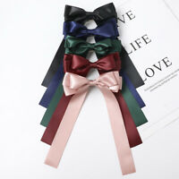 Women Simple Hairpin Bow Ribbon Hair Clips Spring Clip Ponytail Hair Accessories