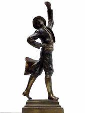 Paul Herzel Pompeia 00006000 N Bronze Posed Gypsy Dancer Sculpture Statue