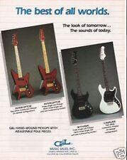 1984 VINTAGE GUITAR AD G&L Interceptor Skyhawk Cavalier