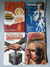 4 TPB lot Invisibles 100 bullets Morrison Risso Azzarello