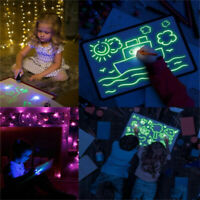 HOT~Draw With Light Fun & Developing Toy Drawing Board Magic Draw Education Xmas