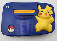Pokemon Pikachu N64 Tim Worthington RGB + Deblur. Console +Scart Only PAL
