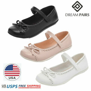 DREAM PAIRS Girls Kids Flat Shoes Casual Dress Shoes Bow Knot Mary Jane Shoes