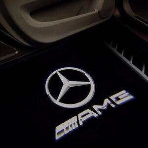 4 X Car Door LOGO PROJECTOR Puddle Light Mercedes CLA CLS CLK From UK