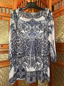One World Live and Let Live 2x Blouse Shirt EUC