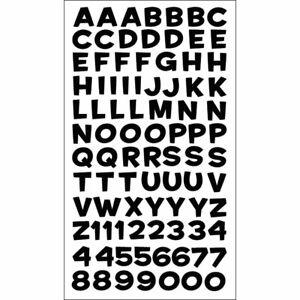 Sticko Black Funhouse  ABC Alphabet Letter Stickers Planner Teacher Scrapbook