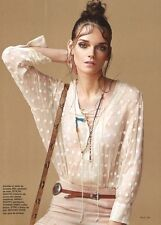 "$349 IRO ""OLTANE"" Polka Dot Embroidered Blouse SZ 40 100% Silk Top Ivory"