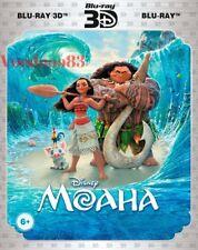 *NEW* Moana (Blu-ray 3D+2D, 2-disc set, 2017) English,Russian,Kazakh,Arabic