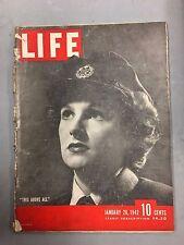 LIFE MAGAZINE JANUARY 19, 1942 WWII ENGLAND WAAF IRAN JOE LOUIS JANE RUSSELL