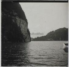 Königssee Lac Allemagne Photo Plaque de verre Stereo Positive A1 Vintage 1911