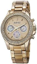 NEW August Steiner AS8100YG Women #039;s Diamond Dial Stainless Steel Gold Watch