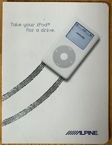 2005 Alpine iPod Sales Brochure CDA-9855 KCA-420i Ai-NET IVA-D310 Catalog HiFi