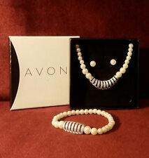 """Vintage ©2013 Avon """"Glistening Pearlesque"""" 3 Piece Gift Set"""