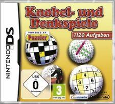 Nintendo DS 3DS DENK UND KNOBELSPIELE 1120 Aufgaben GuterZust.