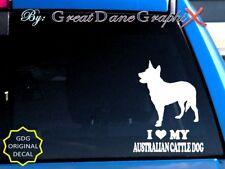 I Love My Australian Cattle Dog - Vinyl Decal Sticker / Color Choice - High Qual