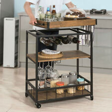 SoBuy Industrial Vintage Kitchen Serving Trolley with Removable Tray FKW56-N,UK