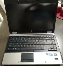 """HP EliteBook 8440p 14"""" Intel i7 WIN7COA Parts Repair No RAM No HDD No AC Charger"""