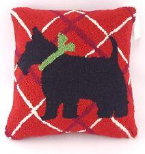 Pe 000016B4 king Handicraft Scottish Terrier Scottie Dog Wool Hook Throw Pillow Christmas