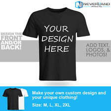 Custom Printed Your Own Design Logo Name Personalized Men's Cotton T-Shirt Tee