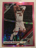 2019-20 Optic Hyper Pink Prizm Justise Winslow #21 Miami Heat