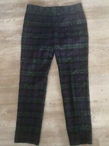 ASOS WEDDING Slim Suit Trousers with Mohair in Lochcarron Blackwatch Tartan
