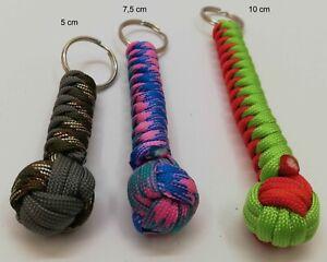 Paracord Schlüsselanhänger Monkeyfist nach Wunsch große Farbauswahl