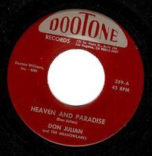 DON JULIAN Heaven And Paradise Vinyl Record 7 Inch US Dootone 359 EX