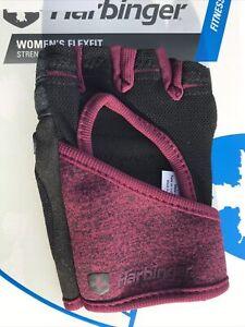 Harbinger Women's Flexfit Strength Gloves Fitness 16148 Black Purple A10