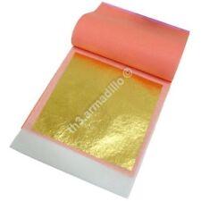 25 X EDIBLE / DECORATIVE GOLD LEAF TRANSFER SHEET BOOKLET - 24 CARAT - 8CM X 8CM