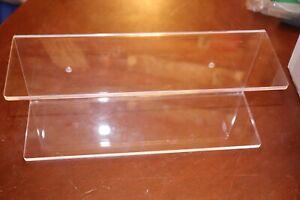 New - (2) Acrylic Floating Shelves