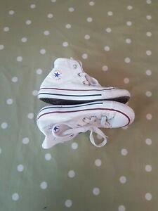 Converse White High Top's infant size 10