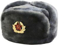 Russian Soviet Cossack Trapper Fur Ushanka Winter size 61 - size XL