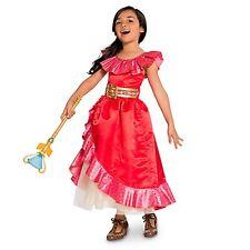 Girls ELENA OF AVALOR Costume Red Flamenco Dress Child Small 5 6 DISNEY STORE