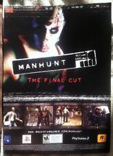 Manhunt Poster Ad Print Playstation 2
