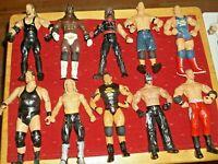 WWE WRESTLING ACTION FIGURES LOT OF 15 STARS MOSTLY JAKKS ERA 1990'S-2000'S+