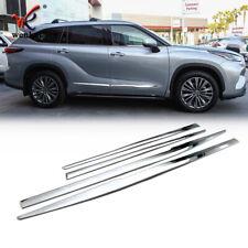 For Toyota Highlander 2020 2021 Side Door Body Trim ABS Chrome