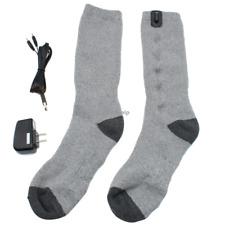Battery Heated Socks Electric USB Winter Cotton Leg Foot Warmers 5V Unisex 1pair