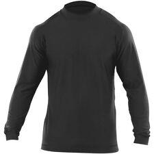 Abbiglimento sportivo da uomo nera a manica lunga in cotone