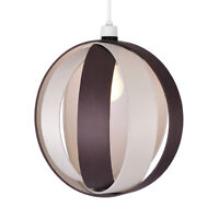 Large Modern Cream  Brown Cocoon Ceiling Light Pendant Lamp Shade Lampshade