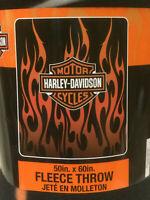 Harley Davidson Ride Hard Skull Chopper Ace Spades fleece blanket  throw NEW