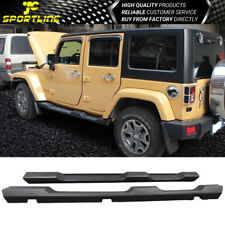Fits 2007-2017 Jeep Wrangler JK Unlimited 4Dr Running Board Side Step Nerf Bars