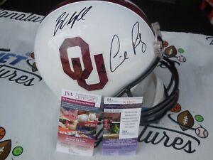 Baker Mayfield Lincoln Riley signed Oklahoma OU Sooners full size helmet JSA COA