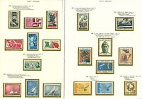 Italy 1965/69 complete run of issues with definitives and comms sg11 Mint Stamps