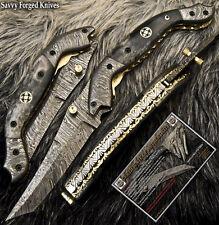 SFK CUTLERY TANTO HAND MADE DAMASCUS POCKET FOLDING KNIFE | LINER LOCK | FO-1803