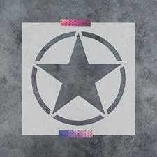 Military Star Stencil - Durable & Reusable Mylar Stencils