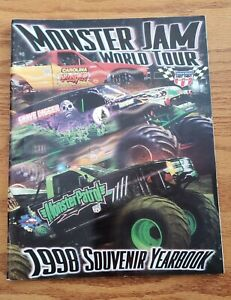 1998 Monster Truck USHRA Monster Souvenir Yearbook Program W/Centerfold poster!!