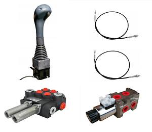 Distributeur hydraulique 2 leviers 3 sections Joystick Câble 40L ouvert Chargeur