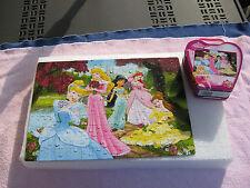 "Disney Princes Puzzle 150 piece in a tin purse. Complete 16 1/4"" X 11 1/2"""